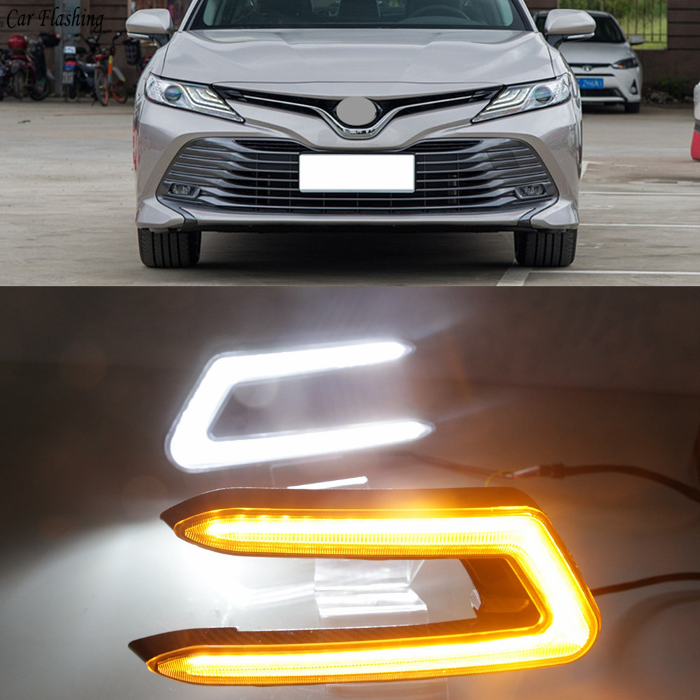 Car Flashing 2pcs ABS 12V Car DRL Daytime Running Light