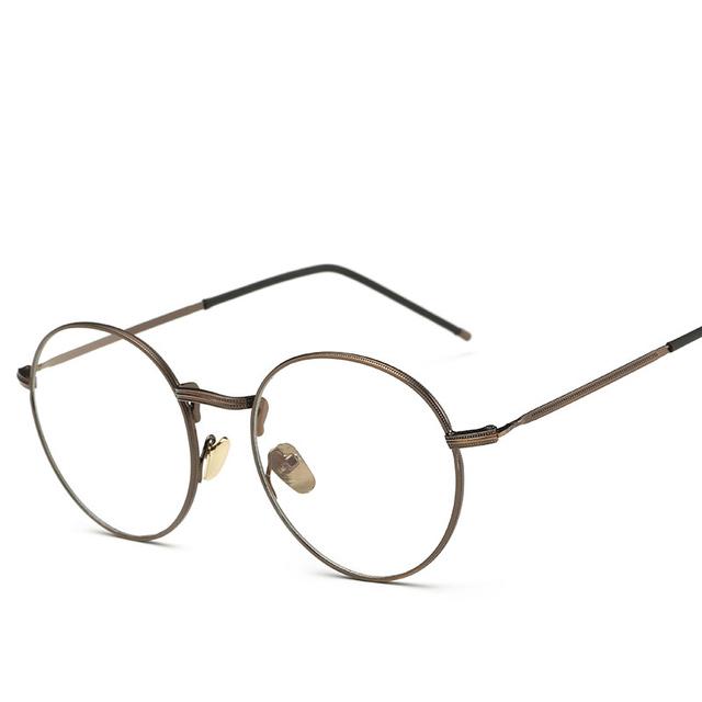 Anti Blue Light Computer Glasses Gaming Glasses Spectacle Women Men Of Metal And Vintage Eyeglasses Round Full-Rim gd3302