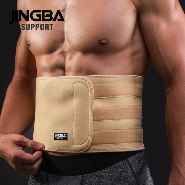JINGBA SUPPORT Back Waist Support Waist trimmer Slim fit Abdominal Waist sweat belt Sports Safety Sports protective gear