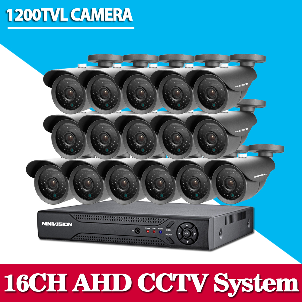 home 16ch AHD DVR with SONY 1200TVL Indoor outdoor security camera cctv system video surveillance kit 16 channel hdmi 1080p Set greatech hd 8 channel ahd dvr kit 720p video surveillance security outdoor indoor cctv 8 cameras 1200tvl ahd system 8ch