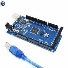 20 шт. TENSTAR РОБОТА Mega 2560 R3 Mega2560 REV3 Atmega2560-16au Коллегия Для arduino + USB Кабель