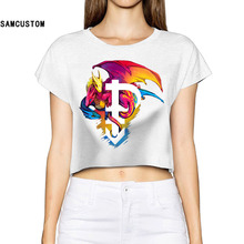 SAMCUSTOM Unicorn Camisetas 2017 Pansexual Pride Printed1  3d  Fashion Street T Shirt Dragon Bare-midriff Sexy T-shirt Women