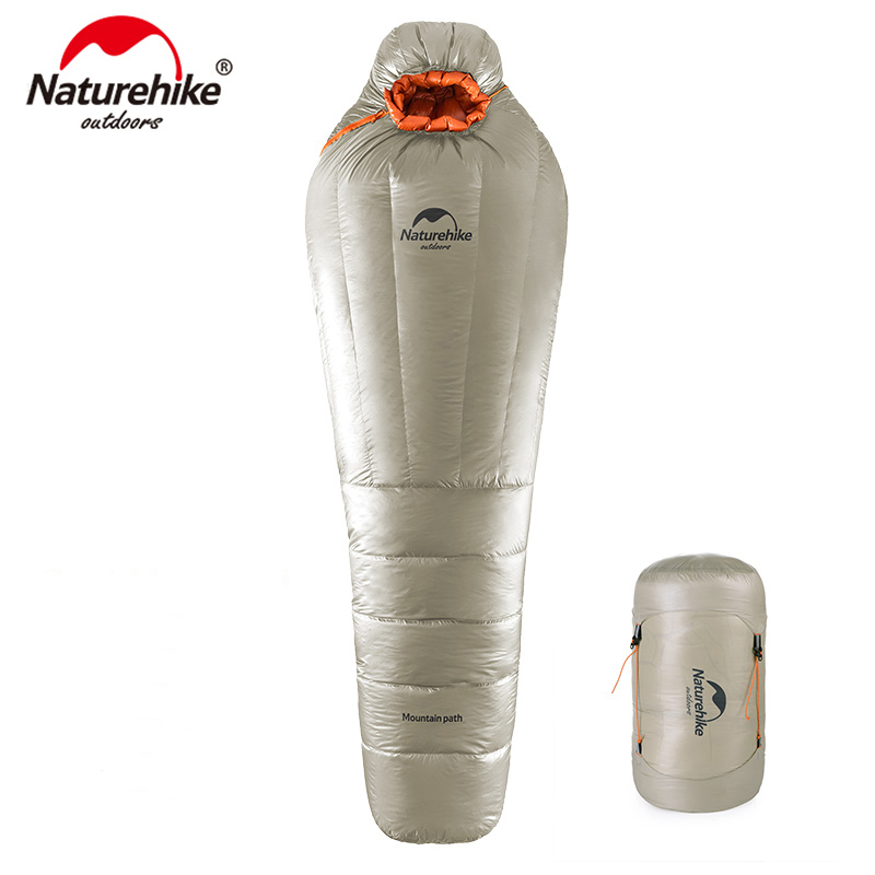 Naturehike Mummy Sleeping Bag Ultralight Camping Adult Warm Winter 20 10 Degree NH17U800 L