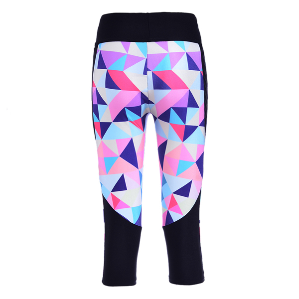 3ff71dc20e4000 Sexy Hot women's 7 point pants Fashion Colored diamond lattice digital print  women high waist Side pocket phone pants Dropship-in Leggings from Women's  ...
