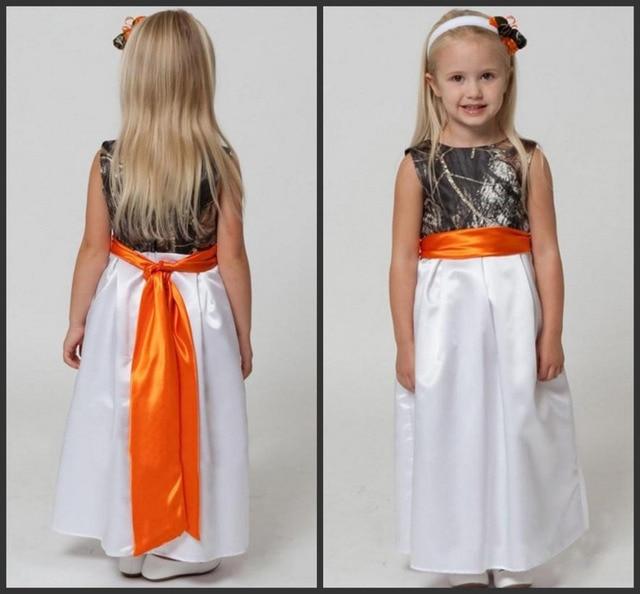 Toddler Orange Ankle Length Dress
