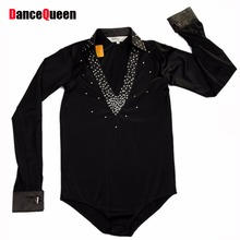 Child Ballroom Dance Tops Boy'S Latin Dance Shirt Boy Dance Wear For Competition/Practice DQ6028