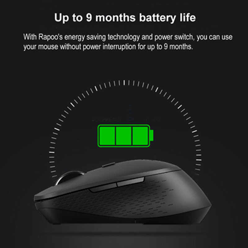新 Rapoo M300 マルチモードサイレントワイヤレスマウス 1600DPI Bluetooth 3.0/4.0 RF 2.4 2.4ghz 3 つのデバイス接続
