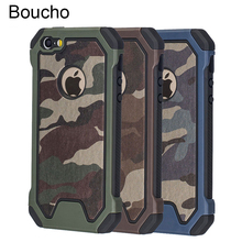 Boucho Army Military Camouflage Armor Shockproof Phone Case For
