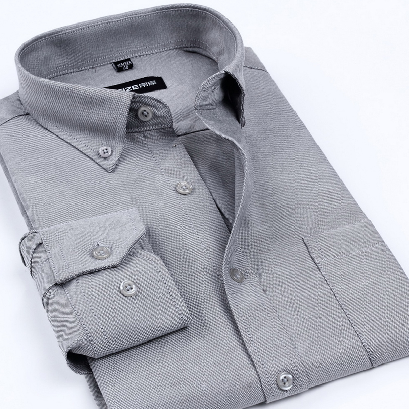 New Arrival <font><b>Oxford</b></font> Men's Brand Dress <font><b>Shirts</b></font> Men Non-Iron Solid Color <font><b>Business</b></font> Formal <font><b>Shirt</b></font> Classic Style Clothes For Men