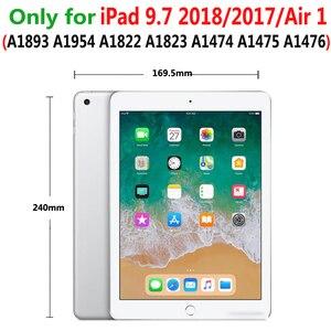 Image 5 - Беспроводной Bluetooth клавиатура из алюминиевого сплава с откидной крышкой чехол для Apple iPad 9,7 2017 2018 A1822 A1823 A1893 A1954 Air 1 5