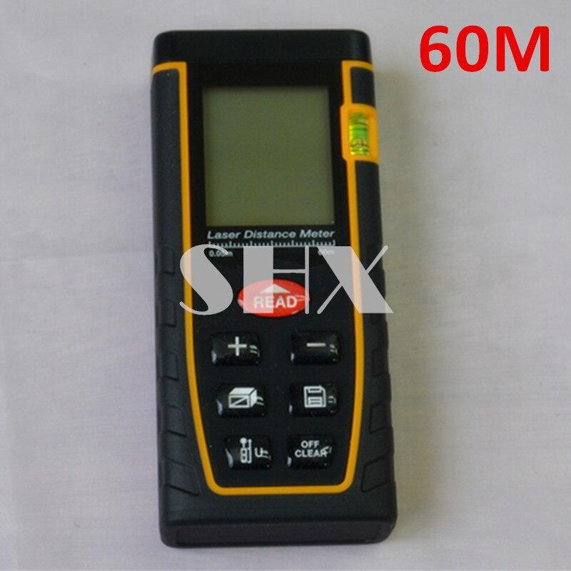 Bubble level tool Rangefinder Range finder Tape measure 60m Area/Volume Angle Tester Laser Distance meter  цены