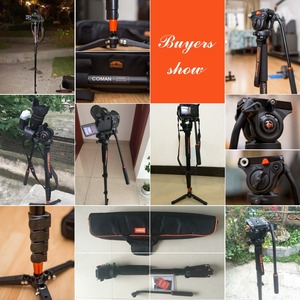 Image 2 - Professional Comanอลูมิเนียมอัลลอยด์ขาตั้งกล้องMonopodหัวโกนUnipod HolderสำหรับCanon Sony Nikon Panasonic GH5 DSLR