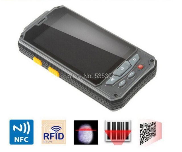 Rugged Wireless Mini Android Handheld Mobile Phone Meter Terminal PDA Bar code Barcode Scanner Data Collector GPS NFC