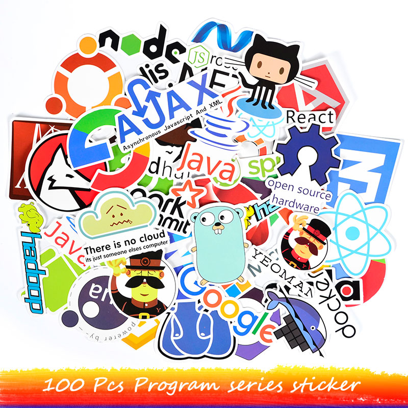 Us 3 47 17 Off 100 Pcs Programming Sticker Programs Language Internet Software Decal Stickers For Geek Diy Notebook Ps4 Computer Laptop Macbook In