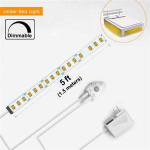 Image 5 - Wrumava Under Bed Lights Motion Sensor LED Light Strip with Automatic Shut Off Timer for Double Bed Warm White 2700K Dimmable