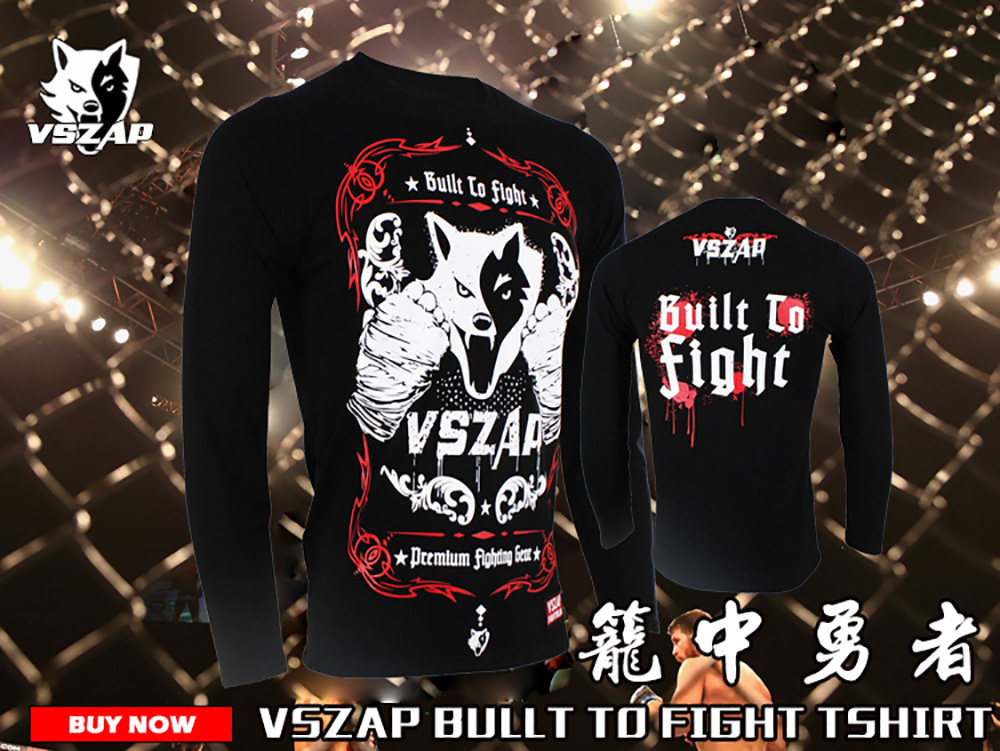MMA Muay Thai boxing sportswear VSZAP genuine mma training fighting fitness exercise integrated sports long sleeves