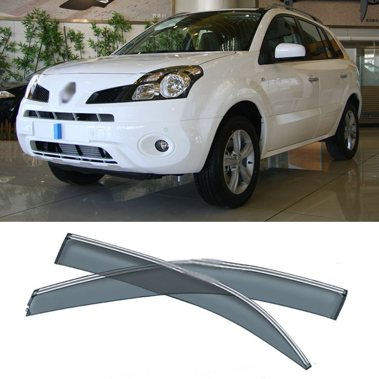 4pcs Blade Side Windows Deflectors Door Sun Visor Shield For Renault Koleos 2009-2013 4pcs blade side windows deflectors door sun visor shield for toyota verso ez 2011 2014
