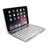 Keyboard Protective Case Aluminum Backlit Bluetooth Keyboard Folio Case 7 Backlight For IPad Mini 1 2
