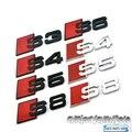 Preto/Prata S3/S4/S5/S6/S8/S/RS8 Emblema do carro Emblema Etiqueta Auto Bota Trunk Para RS8 S4 S5 S6 S7 S8 320