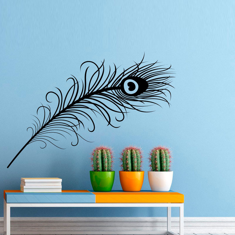 DCTOP Peacock Feather Wall Decal Sticker Bird Plumage Patterns Vinyl Wall  Art Stickes Home Decor( Part 67