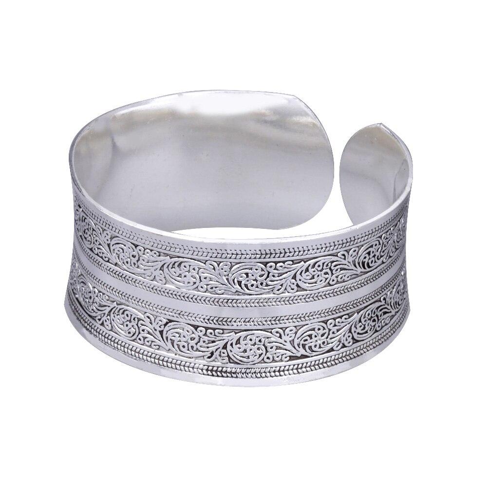Armreifen Mythos Alter Europäischen Concave Metall Tibetischen Silber Farbe Vintage Tribal Armreif Manschette Armband Schmuck Für Frauen Durchblutung GläTten Und Schmerzen Stoppen