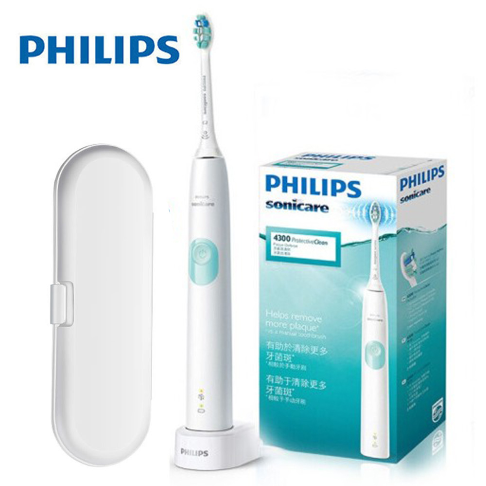 Philips Sonicare ProtectiveClean Sonic electric toothbrush Built-in pressure sensor,1 cleaning mode,1 x BrushSync feature HX6809 image