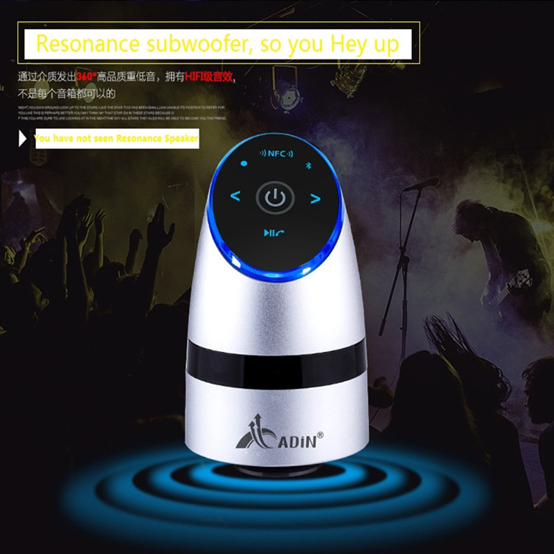 ADIN Metal Vibration Speakers 26W NFC Bluetooth Manos libres - Audio y video portátil - foto 6