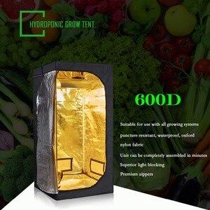 Image 1 - Bitki çadır 600D büyümek çadır kapalı büyümek kutusu 50/60/80/100/120/150/240cm topraksız yetiştirme odası sera bitkisi aydınlatma çadır