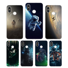 Silicone Case Spaceman Astronaut Printing for Xiaomi Mi 6 8 9 SE A1 5X A2 6X Mix 3 Play F1 Pro Lite Cover