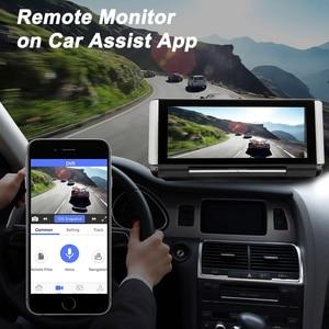 Image 5 - Bluavido 7 inç 4G araba dvrı kamera GPS FHD 1080P Android Dash kamera navigasyon ADAS araba Video kaydedici çift lens ön panel kamerası
