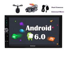 Front&Backup Camera! 2din GPS Car Stereo Android 6.0 Autoradio Car GPS Navigation Headunit USB/SD/FM/AM Radio Wifi+Microphone