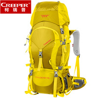 Professional Mountaineering Backpack Waterproof Big Capacity 60L Outdoor Men Hiking Climbing Sports Bag With Rain Cover