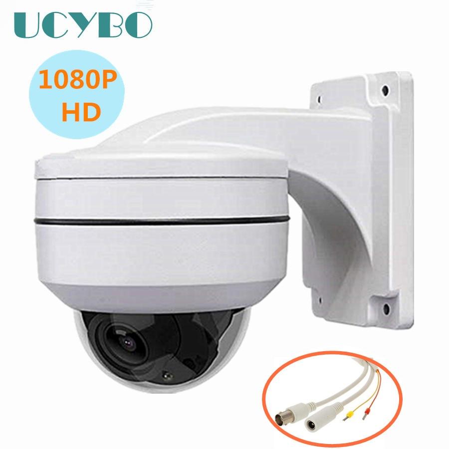 4 IN1 1080 P HD Mini Speed dome AHD caméra AHD CVI TVI en plein air vidéo surveillance 2mp cctv sécurité pan tilt 4x zoom IR vidéo cam