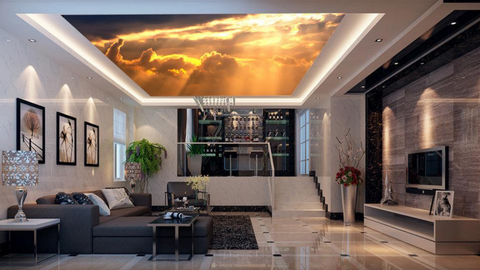 ФОТО 3d customized wallpaper Refraction of sunlight sky ceiling frescoes Home Decoration wallpaper 3d ceiling