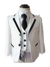 Baby Boy Одежда Белый 5 ШТ. Комплект Одежды Формальные Костюмы для 0-2 Т Младенческой Мальчики Рождество Свадьба День Рождения партия Одежды 90212