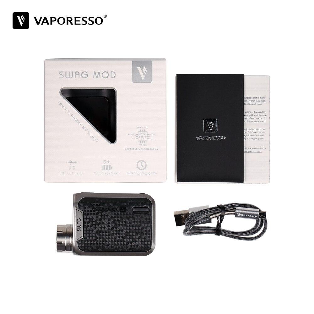 Original Vaporesso Swag TC boîte MOD 80 W 0.91 pouces écran adapté NRG SE NRG SE Mini réservoir atomiseur 0-8.5 V gamme de tension e-cig boîte Mod - 5