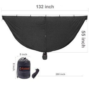 Hamaca Bug Net mosquitero ultraligero Camping exterior hamacas red 325*140 CM con cosas pequeñas saco peso 0,88 LBS nuevo