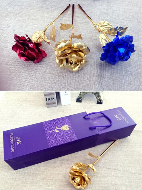 The Best And Most Emotional Gift Golden Rose Wedding Decoration