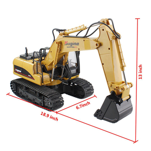 Image 3 - RC Truck Excavator Crawler 15CH 2.4G Remote Control Digger Demo Construction Engineering Vehicle Model Electronic Hobby Toys