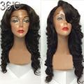 Правая часть / свободная часть / средняя часть 4 * 4 Glueless человеческих волос шелк лучших кружева парики-девы перуанский волны парик с волосами младенца