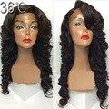 Parte derecha / parte libre / parte media 4 * 4 Glueless cabello humano superior de seda pelucas llenas del cordón virginal peruana peluca onda del cuerpo con el pelo del bebé