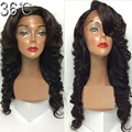 Right Part/Free Part /Middle Part 4*4 Glueless Human Hair Silk Top Full Lace Wigs Virgin Peruvian Body Wave Wig With Baby Hair