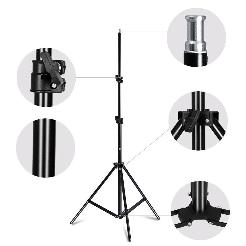 Photo Studio 8 led 20 W kit de boîte à lumière Photographique kit d'éclairage Caméra et accessoires Photo 2 pied de projecteur 2 Softbox pour Appareil Photo - 6