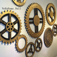NoEnName_Null retro Industrial Wind Gear Model creative decorative wall mural Bar Cafe Pendant
