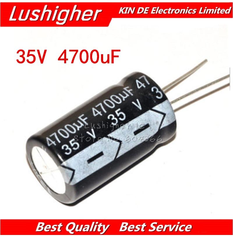 5PCS 35V4700UF 18*30mm 4700UF 35V 18x30 Mm Aluminum Electrolytic Capacitor DIP