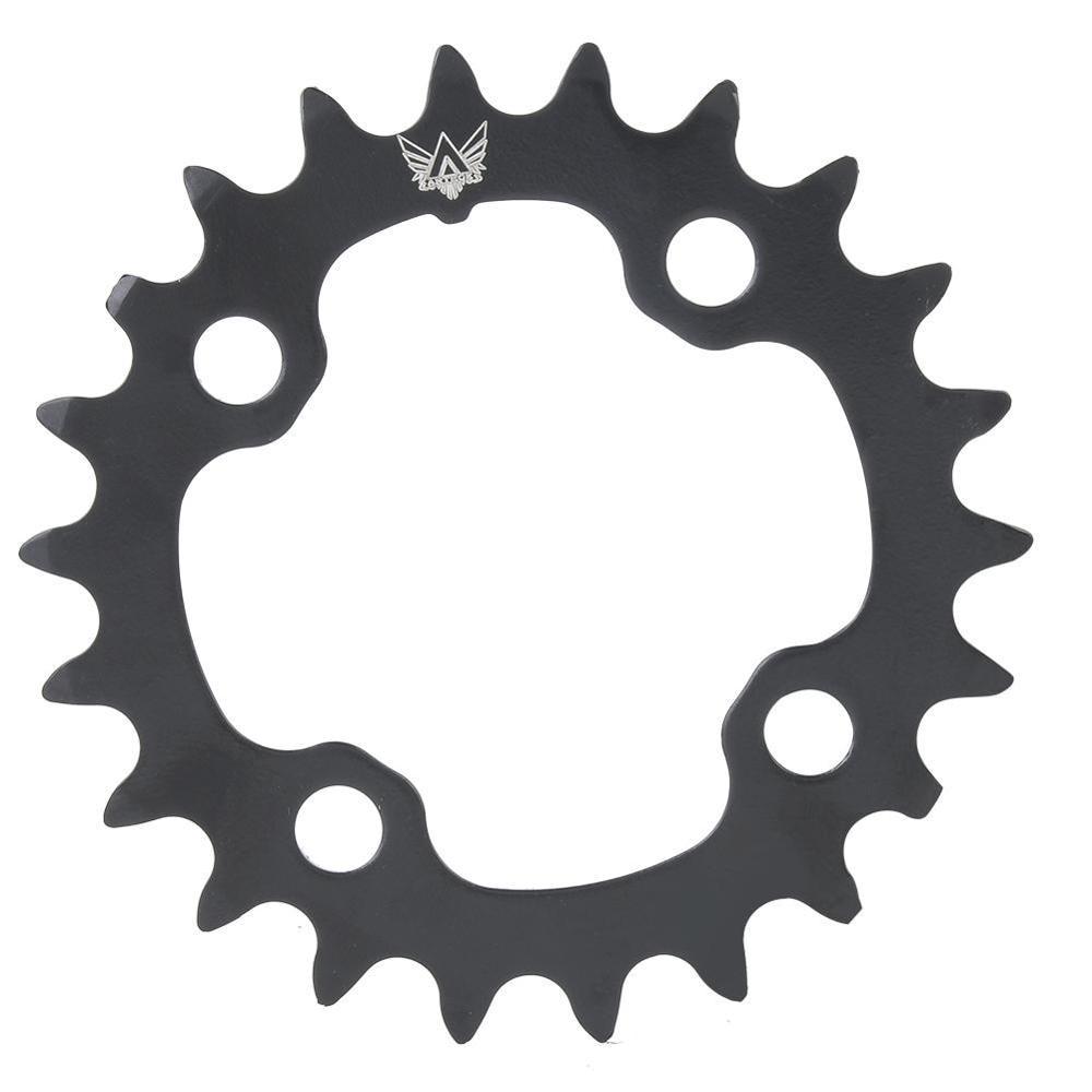 22T Round Black Chainring Bicycle Repair Discs For 9 Speed Crank CrankSet