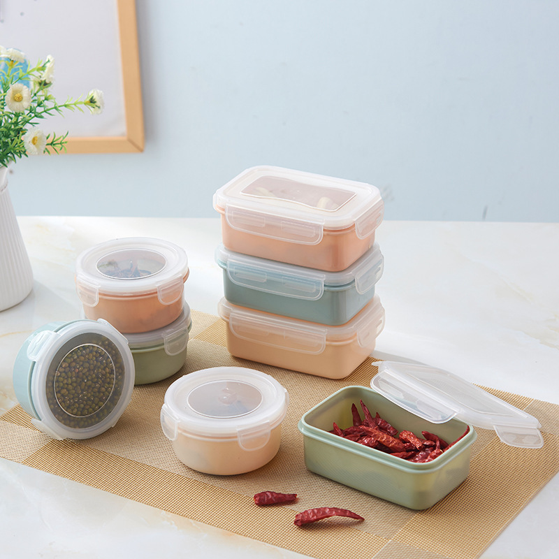 1PC Small Fresh Fruit Snacks Storage Box Plastic Kitchen Container Sauce Food Preservation Box 6D