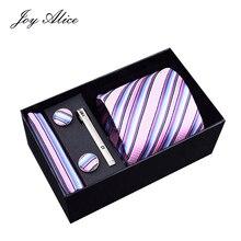 Joy Alice  Wholeslae Custom Italian Formal Wide Men Paisley Floral Necktie Handkerchief Sets Private Label Gentlemen Ties