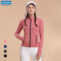 Women Sport Top Running Jacket Woman Track Jacket Yoga Shirt Long Sleeve Stretchy Yoga Shirt Breathable Gym Fitness Clothes