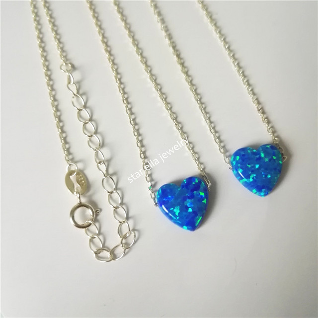 50pcslot blue opal heart pendant necklace good fire synthetic opal 50pcslot blue opal heart pendant necklace good fire synthetic opal heart necklace wholesale aloadofball Choice Image